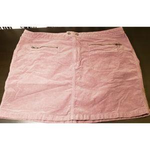 🕷🕷Mossimo Mauve Corduroy Zipper Skirt Size 18